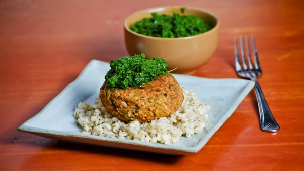 Vegan Recipe: Red Lentil Burgers with Kale Pesto