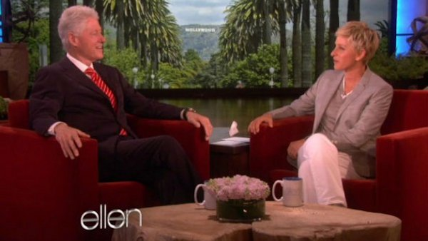 Bill Clinton and Ellen DeGeneres Talk Vegan