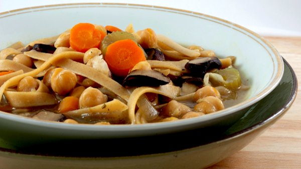 Vegan Recipe: Chickpea Noodle Soup