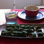 Vegan Recipe: Lovely Collard Sushi with Red Pepper and Cucumber