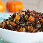 Vegan Salad Recipe: Balsamic Roasted Winter Squash and Wild Rice Salad