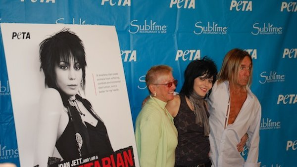 Joan Jett and Iggy Pop Ham It Up at Sublime in Fort Lauderdale for PETA