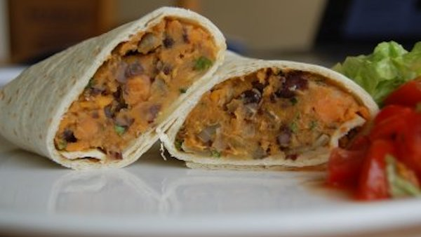 Vegan Lunch Recipe: Sweet Potato Burritos