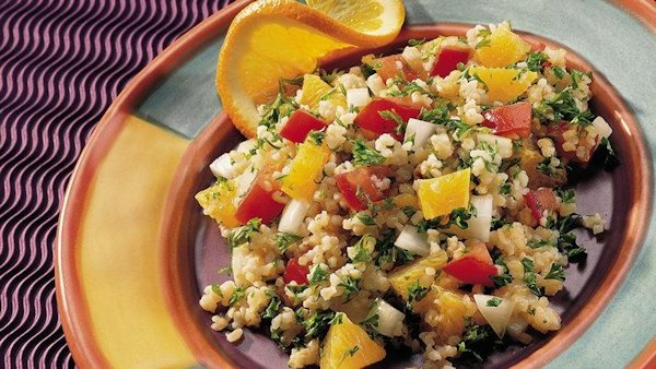 Vegan Recipe: Bulgur and Orange Salad
