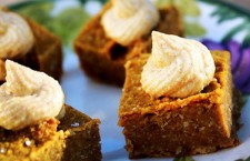 Vegan Dessert Recipe: Pumpkin Pie Squares