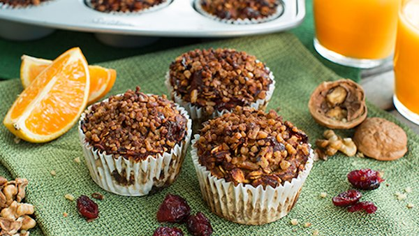 Vegan Recipe: Cranberry Orange Pumpkin Muffins