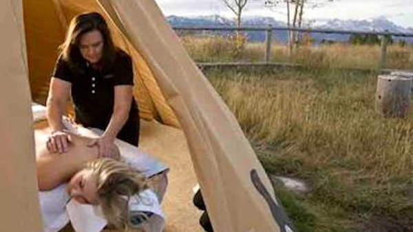 Spring Creek Ranch teepee massage