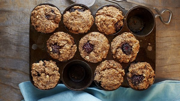 Vegan Recipe: Blackberry Bran Muffins