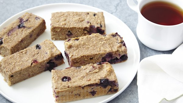 Vegan Snack Recipe: Banana Blueberry Bars