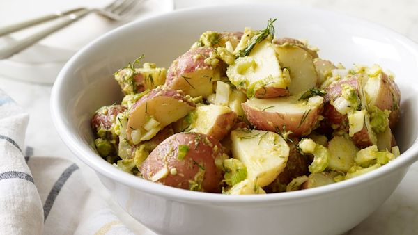 Vegan Recipe: Potato Salad with Avocado and Dill