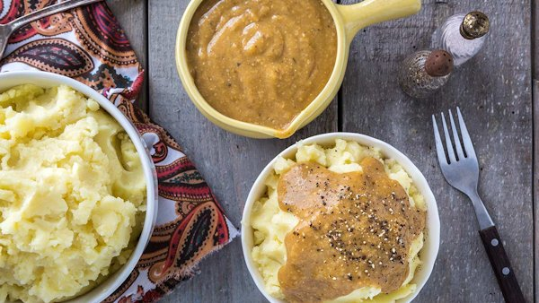 Vegan Recipe: Mashed Potatoes and Gravy