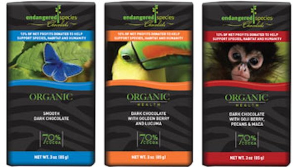 Endangered Species Chocolate: American-made Using Fair Trade Cocoa from West Africa