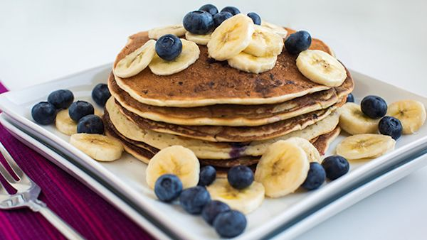 Vegan Recipe: Blueberry-Banana Pancakes