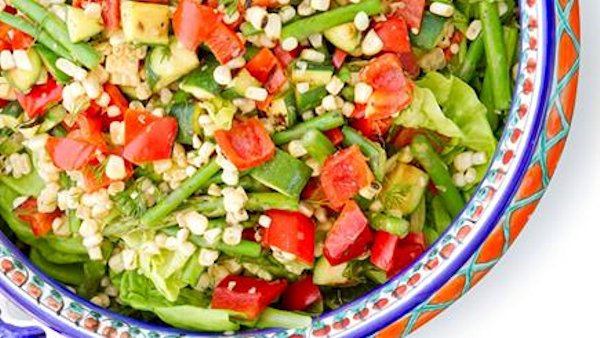 Vegan Recipe: Grilled Veggie Salad