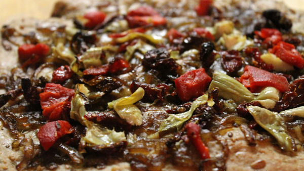 Vegan Recipe: Roasted Vegetable Pizza