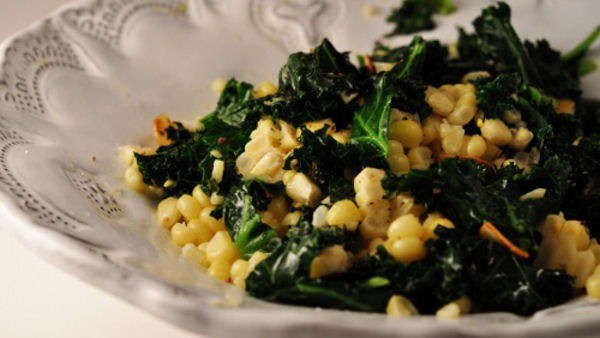 Dr. Fuhrman's Kale with Sweet Corn Recipe