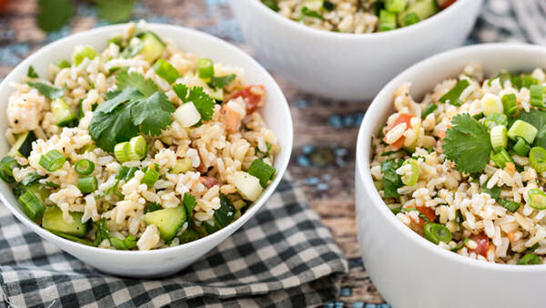 Vegan Recipe: Hollywood Bowl Brown Rice Salad