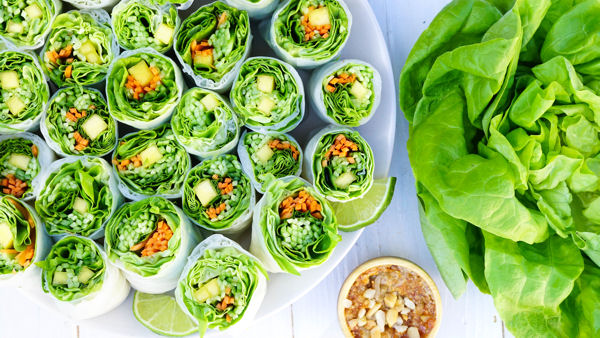 Vegan Recipe: Thai Mango Basil Summer Rolls