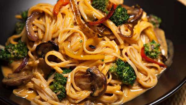 Vegan Recipe: Thai Curried Noodles and Vegetables