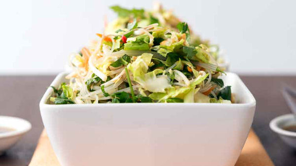 Vegan Recipe: Vietnamese Brussels Sprout and Noodle Salad
