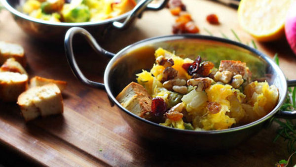 Vegan Recipe: One-Pot Squash and Brussels Sprouts