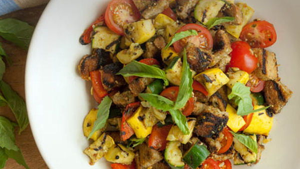 Vegan Dinner Recipe: Grilled Vegetable Panzanella