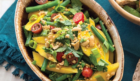 Vegan Recipe: Green Bean and Mango Salad