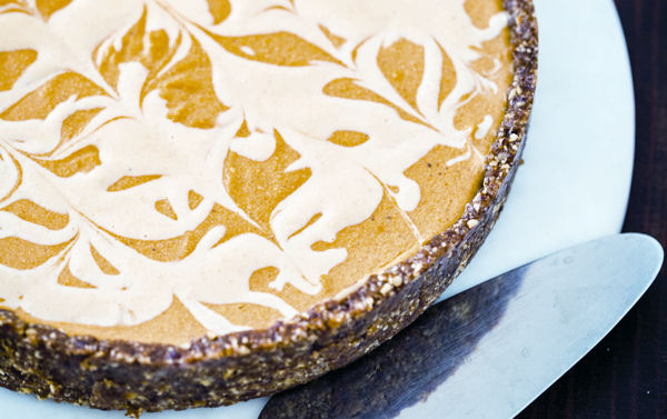 Vegan Dessert Recipe: Marbled Pumpkin Cheesecake