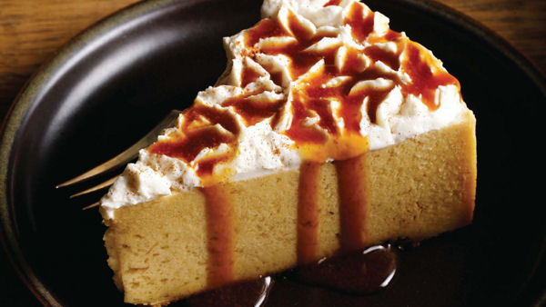 Vegan Recipe: Pumpkin Cheesecake with Apple Cider Reduction