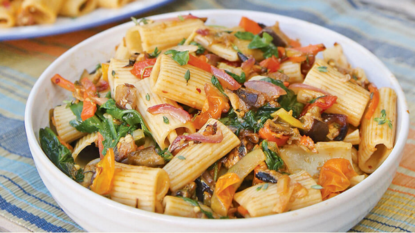 Vegan Recipe: Roasted Veggie Pasta