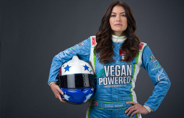 Leilani Münter Races First Ever Vegan-themed Race Car