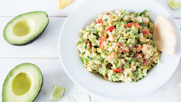 Vegan Recipe: Smashed Chickpea Avocado Dip