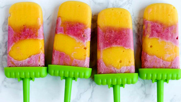 Vegan Dessert Recipe: Strawberry Orange Mango Popsicles