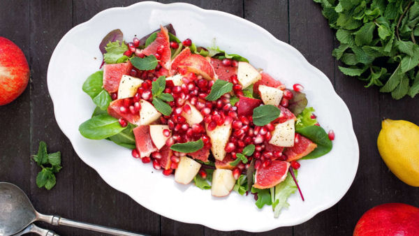 Vegan Recipe: Apple, Grapefruit, Pomegranate Salad