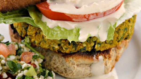 Vegan Recipe: Fabulous Un-fried Falafel Burgers