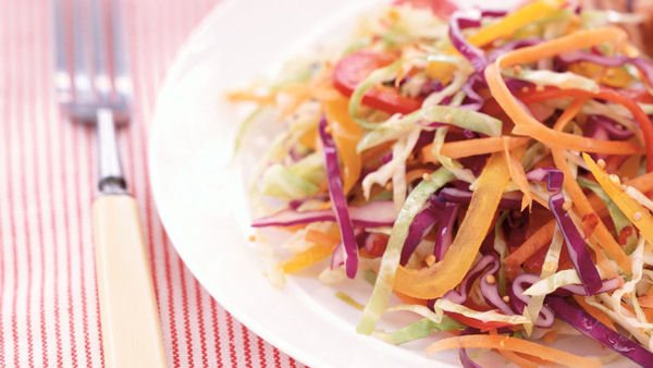 Vegan Recipe: Rainbow Coleslaw
