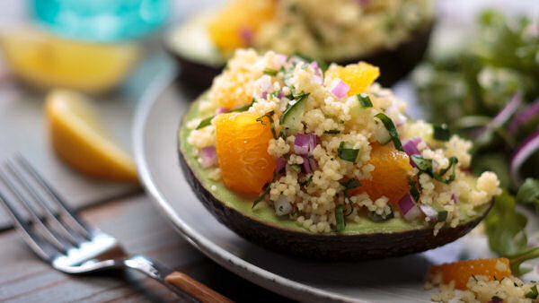 Vegan Recipe: Couscous Avocado Boats