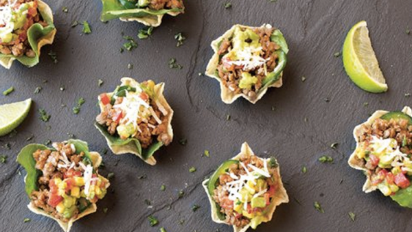 Vegan Appetizer Recipe:  Mini Beefless Taco Cups