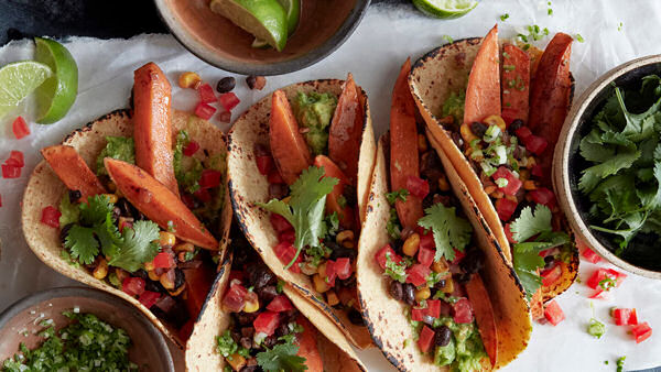 Vegan Recipe: Spiced Sweet Potato Tacos