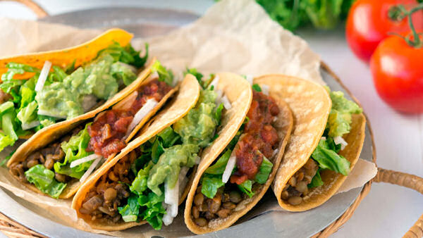 Vegan Recipe: Tucson Spicy Lentil Tacos
