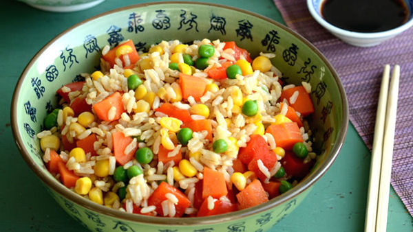 Vegan Recipe: Colorful Fried Rice