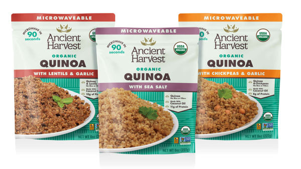 Ancient Harvest Launches First Heat-and-Eat Organic Quinoa