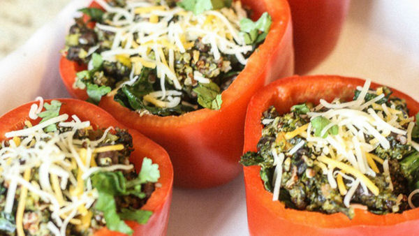 Recipe: Kale & Quinoa Stuffed Peppers