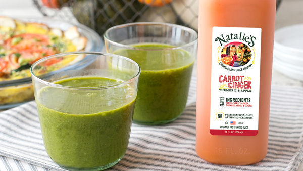 Vegan Recipe: Carrot Ginger Green Smoothie