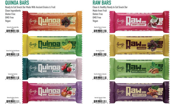 8 All-Natural, Raw & Quinoa Bars Introduced by Pereg Natural Foods